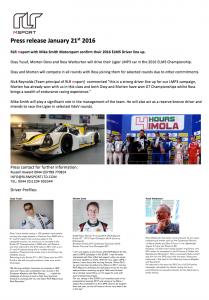 Press release Jan 2016